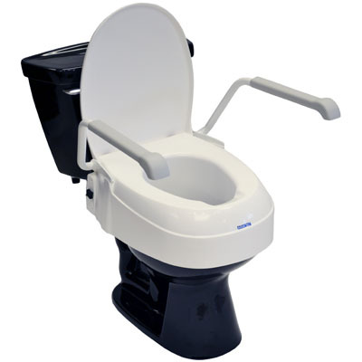 Adjustable Height Raised Toilet Seat