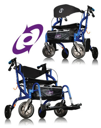 Fusion Transport Wheelchair & Walker