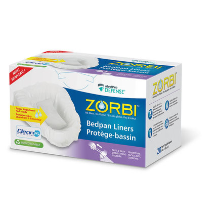 ZORBI™ Biodegradable Bedpan Liners