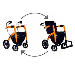 Rollz Convertible Walker and Transport Wheelchair